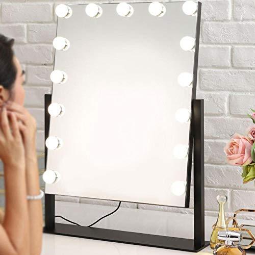 Ampoule réglable de Miroir réglable Durable de 10 LED de température de Couleur alimentée par USB pour la Table de vanité(Trichromatic Light)