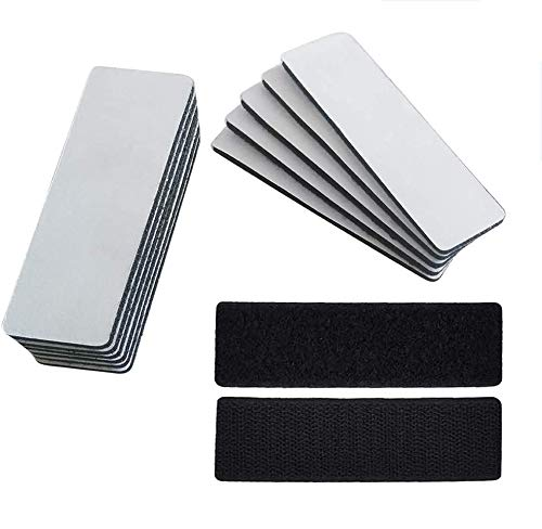 Self Adhesive Strips, Strong Adhesive 32 Pairs(4x1.2 in) Diameter Self Adhesive Nylon Sticky Back Strips Hook Loop Strips Fastener Round Strips Stickers Tapes for Classroom, Office, Home