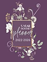 5 Year Monthly Planner   2022-2026: A Five Year 60 Month Calendar to Organize and Schedule Agenda   Includes Additional Space for Notes Under Every Month, Can Be Used as Memory Book   Floral Flourishes Burgundy Cover Design