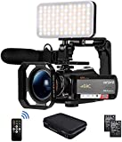 "Camcorder 4K Video Camera, ORDRO AC5 UHD Camcorder with 12x Optical Zoom 3.1""IPS"