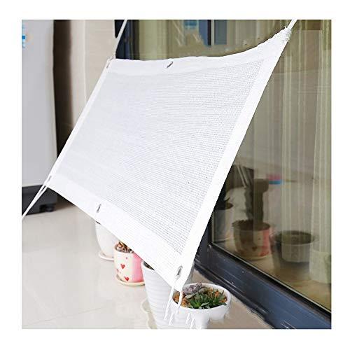 PENGFEI Sonnensegel Sichtschutznetz Verschlüsselung Draussen Sonnencreme Terrasse Pavillon Anti-UV, Mehrere Größen (Color : White, Size : 1x2m)