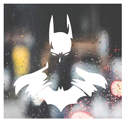 Custom Decal Car for Dark Knight Decal, Batman for Car, Truck, Jeep, Funny, Window, Motorcycle, Helmet, Bumper, Decal for Laptop, Phone, Home Decoration / 4 in x 4 in / White