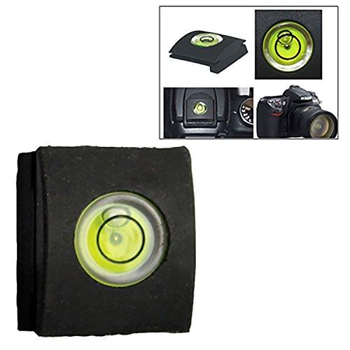 Movoja [ Blitzschuhabdeckung mit Wasserwaage für die Kamera ] Schutz Abdeckung | Dosenlibelle für Nikon Canon Olympus Pentax Fuji DSLR/SLR Kameras mit Standard Blitzschuh schwarz