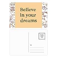 あなたの夢のインスピレーションを信じて 公式ポストカードセットサンクスカード郵送側20個