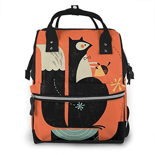 GXGZ Squirrel Blog Mochila para bolsa de pañales para mamá - Bolsa para pañales multifuncional - Tela Oxford duradera y resistente al agua - Bolsas de viaje grandes para bebés