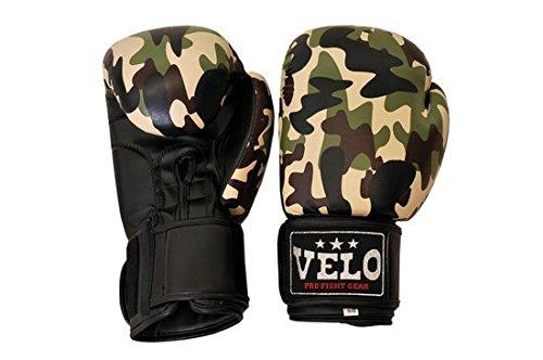 Camo Series Boxhandschuhe Green & White Boxing Gloves 8 oz - 14 oz (Green, 12oz)
