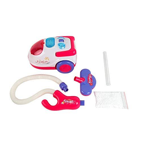 Heaviesk Elektro-Staubsauger für Kinder Spaß realistische Spielzeug mit leichtem Klang tragbare spielen Haushaltsgerät Weihnachtsgeschenke