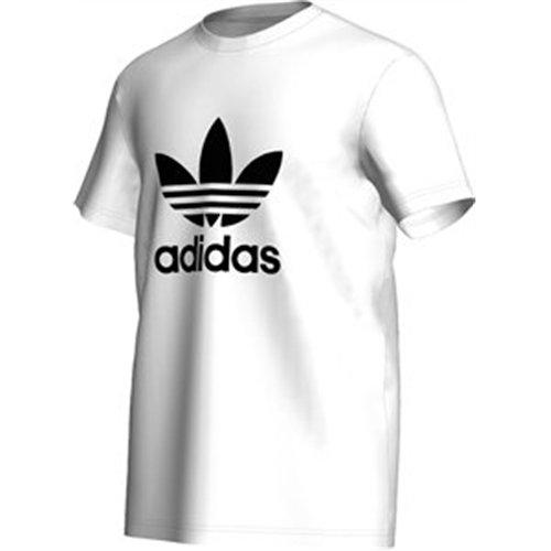 adidas Men's Trefoil T-Shirt - White/Black, Large