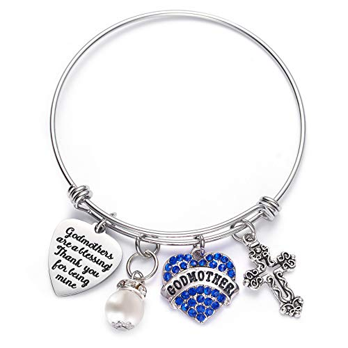 LParkin Godmother Bracelet Godmothers are a Blessing Thank You for Being...