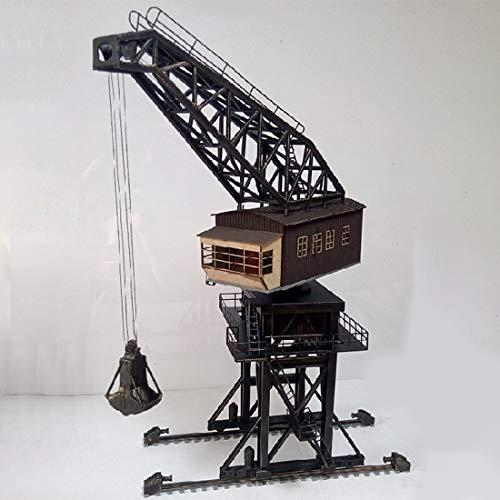 Haoun 1:87 HO Scale Large Coal Crane Model, Train Building Kit Railway Layout Scene Sand Table Model Train Accessories