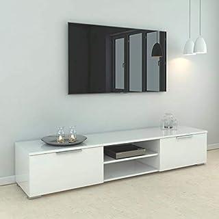 طاولة تلفزيون تي فيلوم ماتش مقاس 65 بوصة باللون الابيض، الابعاد: 33.1 سم × 172.7 سم × 39.9 سم.
