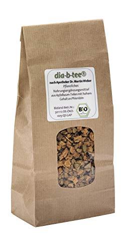 dia-b-tee® Apfelbaum- Fruchtansätze: Tee zur Regulierung des Blutzuckers durch hohen Gehalt an Phloridzin, 1-Monats-Kur 150 g