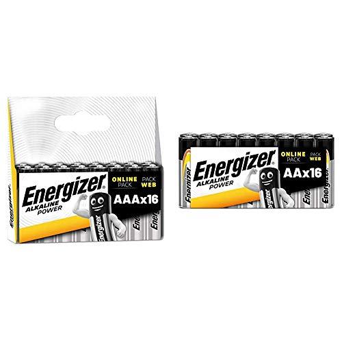 Energizer Batterien AAA, Alkaline Power, 16 Stück & Batterien AA, Alkaline Power, 16 Stück