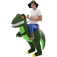Double Couple Inflatable Alien Dinosaur T-Rex Costume Halloween Blow Up Costumes