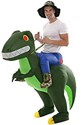 2. Double Couple Inflatable Ride On Adult Dinosaur Costume