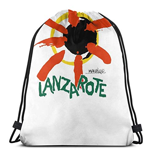 Hdadwy Lanzarote - Spain Sport Bag Gym Sack Drawstring Backpack for Gym Shopping