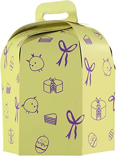 TusBlondas Caja de cartón Hexagonal para Tarta Alta - 25 Unidades (28 cm.)