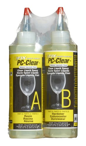 PC Products PC-Clear Epoxy Adhesive Liquid, 1oz Double Syringe, Clear 70147