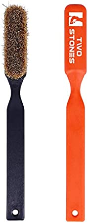 Not Included for Climbing Wall Holds TWO STONES Climbing Chalk Brush with Thick Ultra Durable Boars Hair Bristles Bouldering Brush with Ergonomic Handle Portable with Climbing Chalk Bag