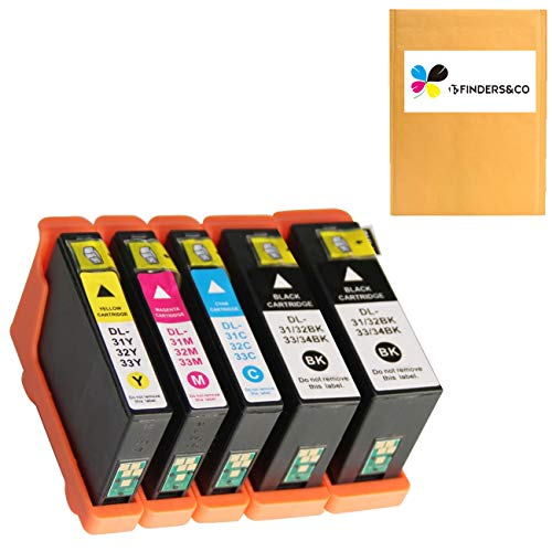 Compatible Dell Series 31 Ink Cartridges Replacement for Dell V525w V725w Printer (2BK, 1C, 1M, 1Y)