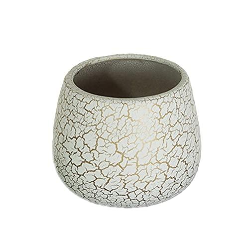 Estilo minimalista Maceta de cerámica flor de cerámica maceta de plantas grandes contenedores de balcón adornos de mesa interior decoración de la planta Potes de plantas modernas contenedores de flore
