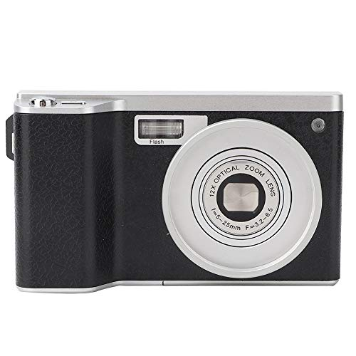 Xiuganpo Zoom 8X Cámara Digital, 24 Megapíxeles Mini Grabador De Cámara Digital con Pantalla Táctil Ultra HD De 4.0 Pulgadas, 24 Millones De Píxeles Videocámara con Cámara Digital para Fotografía