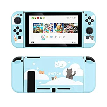 GeekShare Protective Case for Switch Soft TPU Slim Case Cover Compatible with Nintendo Switch Console and Joy-Con  Nebula Cat