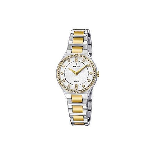 Festina Damen Analog Quarz Uhr mit Edelstahl beschichtet Armband F20226/1