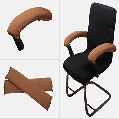 2 STK. Elastische Armauflage, Armlehnen Polster, Ellenbogen Kissen für Drehstuhl Bürostuhl - Braun