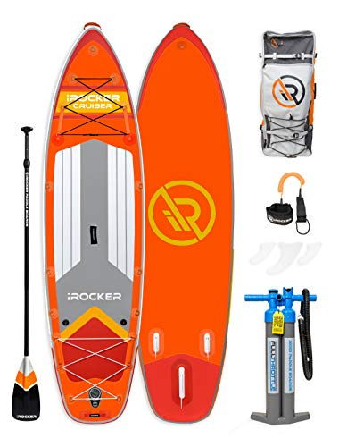 iROCKER All-Around Inflatable Stand Up Paddle Board 11'
