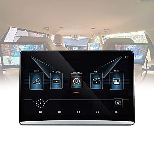 TERMALY 12.5 Pulgadas Android 9.0 2 + 16G Monitor de Reposacabezas de Duatro Núcleos HD 1080P Pantalla Táctil WiFi/Bluetooth/USB/SD/HDMI/FM Reproductor de Video
