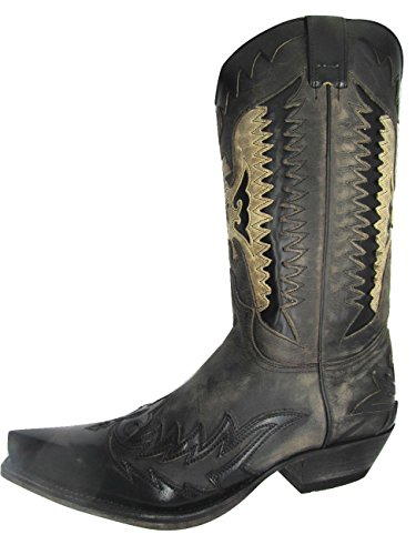 Sendra 13040 - Stivali da cowboy, da uomo, in pelle, con aquila (42)