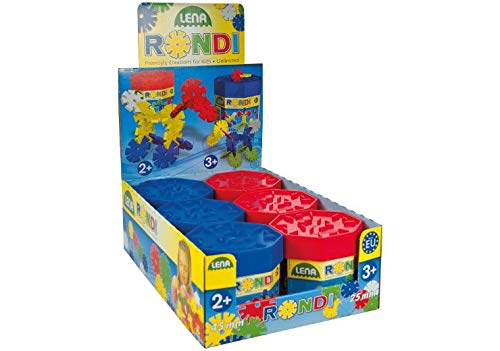 Lena Rondi Building Box Assortment - Juguetes de construcción (Juego de construcción, Multicolor, 2 año(s), Niño/niña, Europa, TÜV)