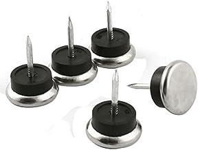 DealMux Metalen Meubelstoel Glide Voeten Been Floor Protector Nagels 2.3 cm Dia 5 stks