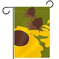 ガーデンヤードフラッグ両面 /12x18in/ ポリエステルウェルカムハウス旗バナー,パティオ芝生屋外の家の装飾のため