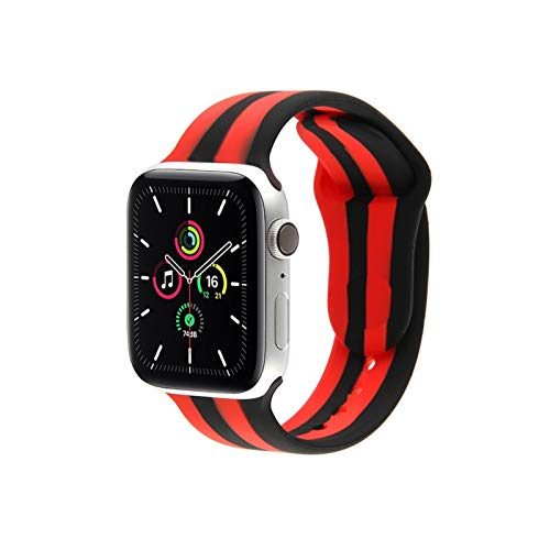 GZMYDF Correa De Silicona For IWatch Band 38 Mm 40 Mm Rainbow Coincidencia De Colores For IWatch Serie SE 6 5 4 3 2 1 44 Mm 42 Mm Reemplazar Correa (Band Color : CY18, Size : 42 44mm S M)