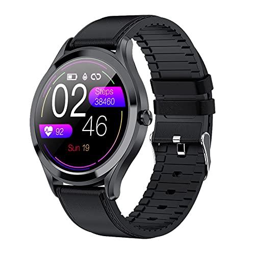 BNMY Smartwatch Pantalla De 1,3 Pulgadas Reloj Inteligente Impermeable IP67 con Pulsómetros para Mujer Hombre, Pulsera De Actividad Inteligente con Monitor De Sueño Contador De Caloría Cronógrafo,D