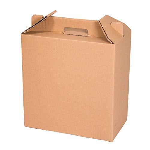 Kartox | Caja para Vino | Estuche de 6 botellas de vino | Caja para lote de navidad | Color marrón | 4 Unidades
