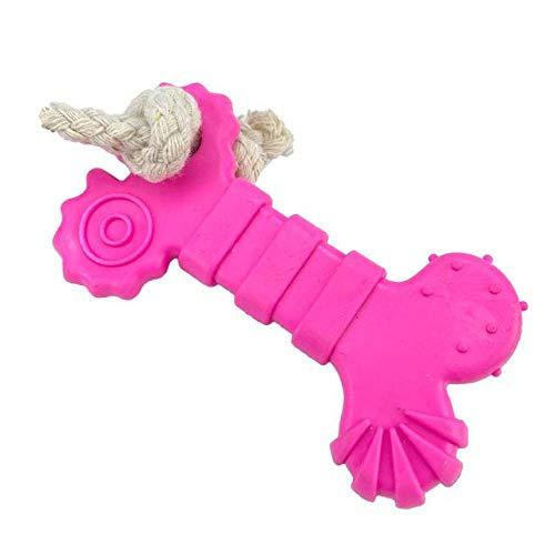 Jouet pour Animaux De Compagnie Bone Rubber Pet Dog Toys Corde De Coton Dog Chew Indestructible Toys Dogs Play Supplies Pet Toys Dog Bite Accessories Black