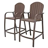 Crestlive Products Counter Height Bar Stools All Weather Patio Furniture with Heavy Duty Aluminum Frame &...