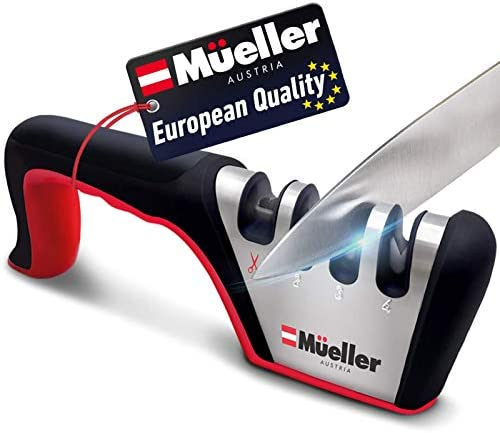 Mueller Original Premium Knife Sharpener Heavy Duty 4 Stage Diamond Really Works for Ceramic product image