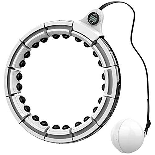 Olz Aros de fitness Hoola de tamaño ajustable desmontable, masaje de 360 grados y pantalla inteligente para adultos, pérdida de peso, ejercicio Hula Hoop