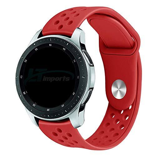 Pulseira Sport Total 22mm compatível com Samsung Galaxy Watch 3 45mm - Galaxy Watch 46mm - Gear S3 Frontier - Amazfit GTR 47mm - Huawei Watch GT 2 46mm - Marca LTIMPORTS (Vermelho)