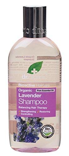 Dr. Organic Champú de lavanda aceite esencial puro equilibrio pelo Terapia