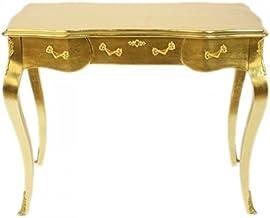 Casa Padrino Luxury Baroque Desk/Console Gold Ink. Glass Panel 97 x 78 x 48 cm - Secretary Luxury Furniture