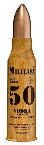 Wodka Debowa Military 40% Vol. (1x500ml) Vodka in Patrone aus Holz