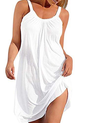 NUOSHOU Bañador Trajes de baño Mujer sin Mangas Playa Vestido Bikini Traje de Baño Cubrir Arriba Verano Ropa de Playa Mini de Tiras Vestidos Delantal/A/M