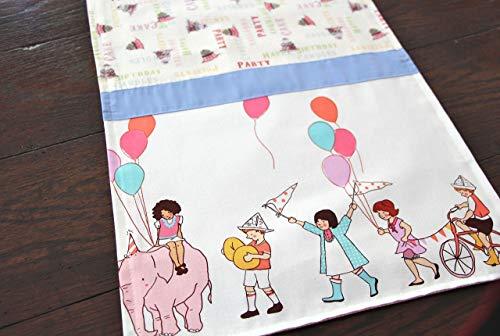 Happy Birthday Table Runner, Kids on Parade
