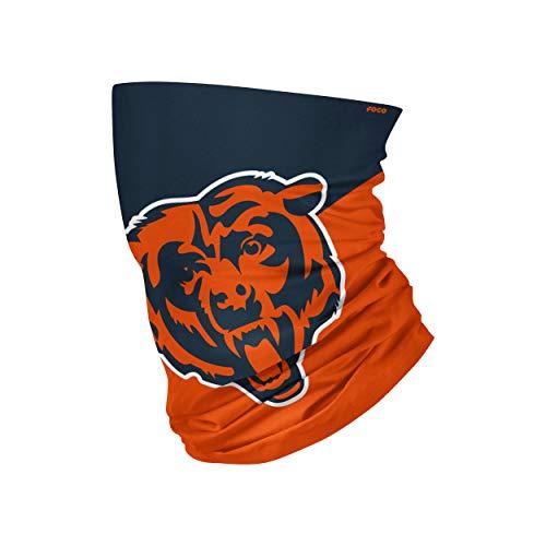 NFL FOCO Chicago Bears Neck Gaiter, One Size, Big Logo