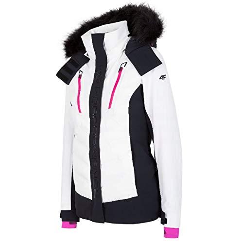 4F Damen Skijacke Größe M Weiß (Weiß)